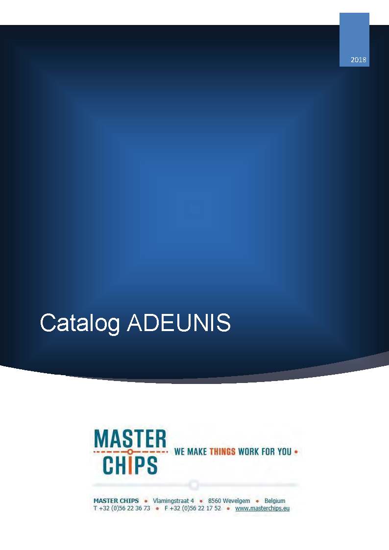 Frontpage Adeunis catalog
